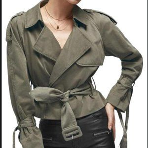 Anine Bing cropped trench coat